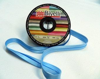 20 mm Satin bias tape, Blue  bias binding, trim (0.78 inches) - Bias Binding - Bia - Tape - Tapes