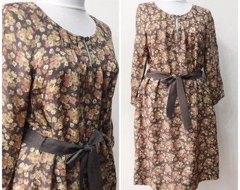Vintage dress / Noa Noa dress / Dress with belt / Flowers print dress