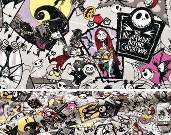 New!! 1/2 yard Disney Licensed Nightmare Before Christmas Cotton Fabric LIMITED STOCKS