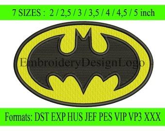 Batman embroidery design - Instant Download - INSTANT download machine embroidery pattern