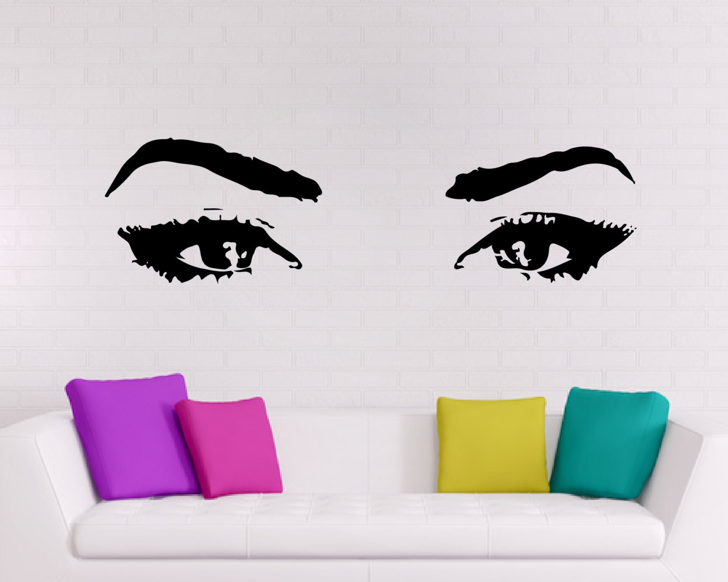 Wall Art Stickers Eyes : Eyes wall decal sticker art decor by