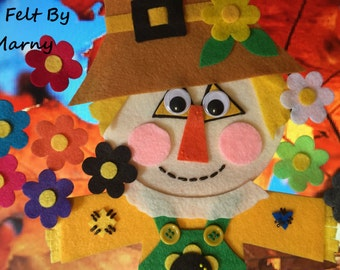 Scarecrow Wore a Yellow Flower Felt Board Story // Flannel Board Story // Circle Time// Storytime// Counting Activity//Teacher Resource//ECE