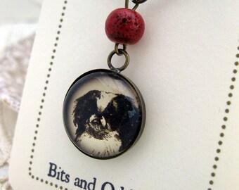 Japanese Chin dog pendant necklace