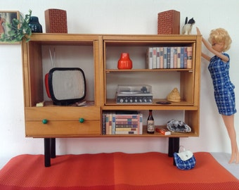 Miniature furniture  for Barbie  or Blythe, scale 1:6, Design, Handmade,Vintage style