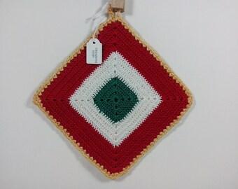 Crochet Potholder/crochet  potholder Italy/ Decorating kitchen. Kitchen decor. Potholder star. flower pot holder
