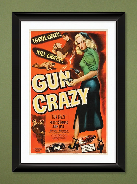 Vintage Movie Poster Gun Crazy 1950 12x18 Heavyweight Art