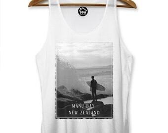 Manu Bay New Zealand Vest Surf Men Singlet Sleeveless Tank Famous Surfing PP115