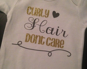 Curly hair don't care onesie