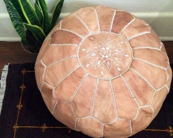 The Natural Pouf - Moroccan Leather Pouf