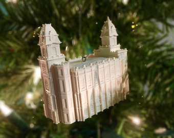 Manti, UT LDS Temple Christmas Ornament