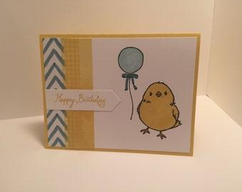 "Stampin Up handmade 'Chick' ""Happy Birthday"" card"