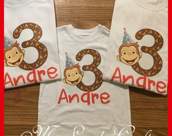 Curious George Birthday Shirt (each shirt)