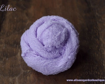 Lilac Cheesecloth Baby Wrap