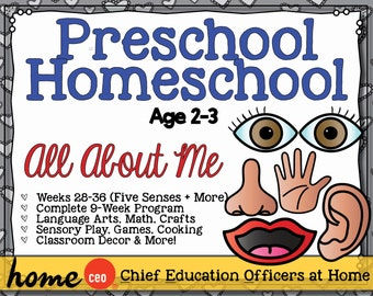 Homeschool Preschool All About Me Units (9 Weeks)