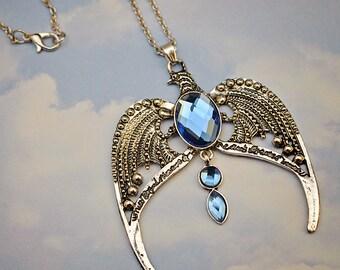 Ravenclaw Necklace // Silver & Blue // Hogwarts Horcrux Harry Potter Fandom Jewelry