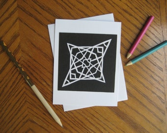 Hand-Made Papercut Blank Greeting Card
