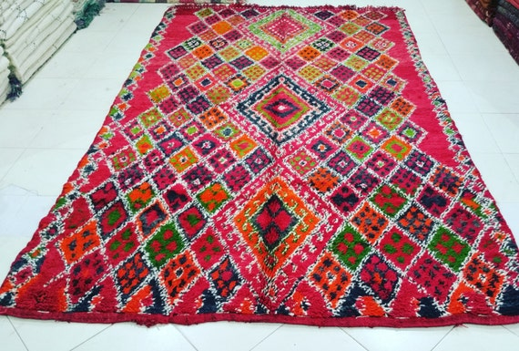 Vintage moroccan beni mguild rug tapis berbère alfombras