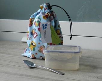 Reusable, waterproof bag, for snack, snack