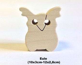Wooden figure Owl / Handmade / Animals / Wooden toys / Forest / Waldorf / Montessori