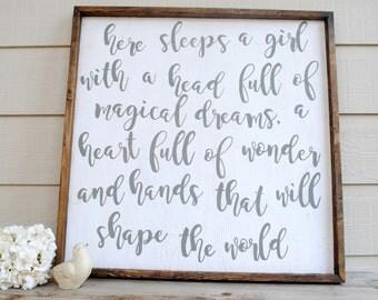 Girl Nursery Wood Sign, Girl Room Decor, Girl Nursery wall Art, Girl Nursery Decor, Nursery Wall Art, Wood Sign With Sayings, Wooden Sign