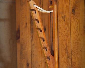 Folk Art Hanger Wood 1950s