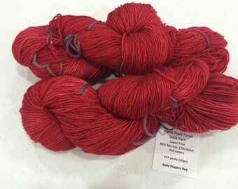 Sumptuous Sock Yarn - Ruby Slippers Red