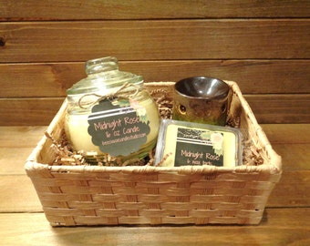 Scented pure beeswax candle gift basket 14 oz candle