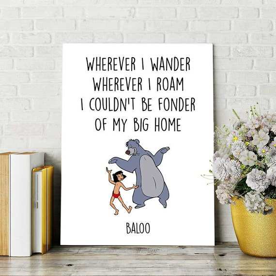 Jungle Book Quotes Glamorous Disney Quotes Jungle Book Print Baloo And Mowgli Printable