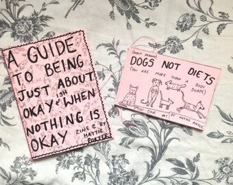 dogs not diets | mental health and body positivity zines 1&2