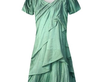 Statue of Liberty Lady Costume All Over Juniors Beach Cover Up Dress