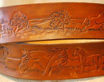 Extravagant leather belt