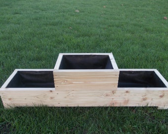 Large Wooden Planter / Window Box / Flower Planter / Herb Planter /1-2-1