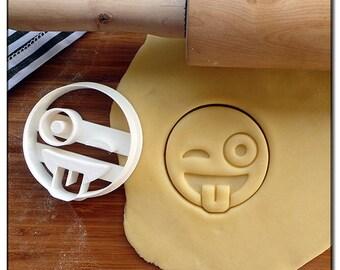 Cookie Cutter Emoticone Emoji Smiley tongue