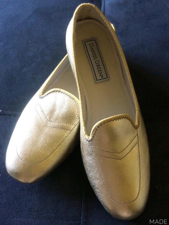 Vtg gold daniel green vintage ladies women 39 s glamour - Ladies bedroom slippers with heel ...