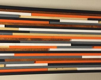Modern Rustic Wood Art 20x48