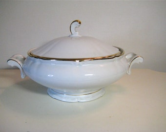 A German porcelain soup dish