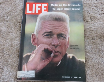 Vintage LIFE Magazine November 14, 1969, Green Beret Colonel Robert Rheault and Norman Mailer writes about the Astronauts