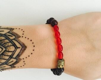 Deep Red Buddah Wrist-Hugger
