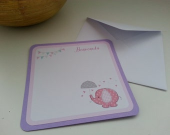 """Card birth collection """"elephant"""""""