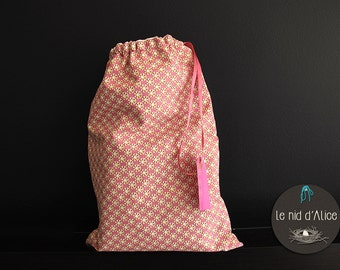Cotton and linen laundry bag