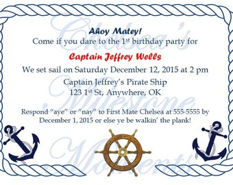 Nautical Party Invitation