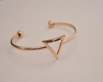 triangle cuff bracelet charm bracelet gold plated finding