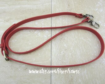 "48"" Red Leather Strap for Purse Bag"