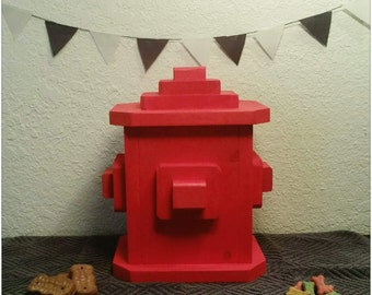 Wooden Fire Hydrant Dog Treat Holder Perfect Gift For Animal Lovers