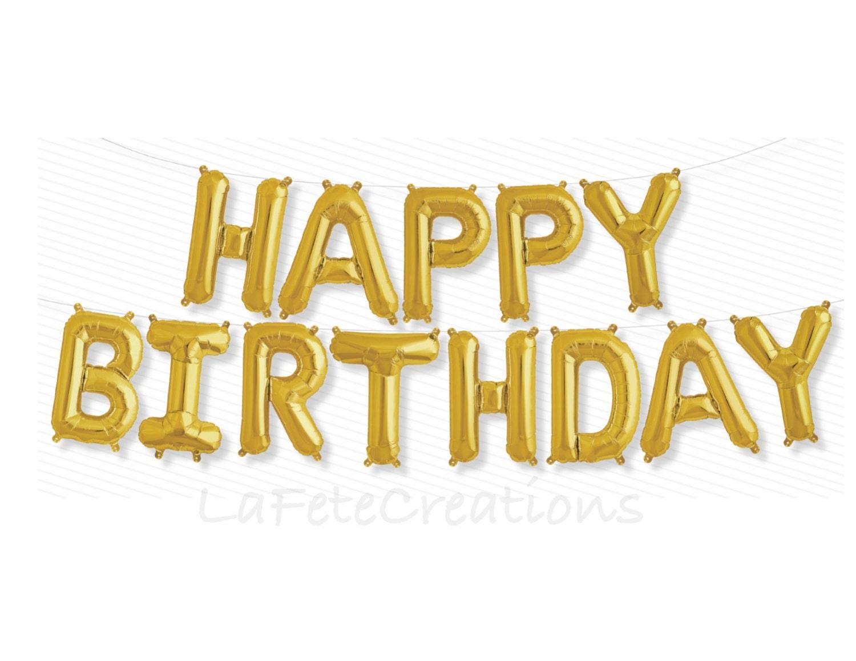 happy birthday banner balloons foil mylar balloons letter With happy birthday foil balloon letters