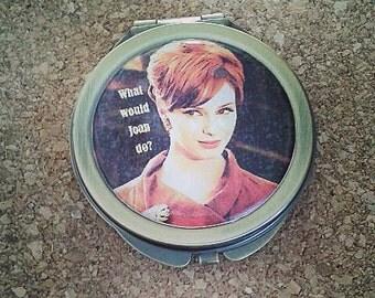 Mad Men Joan Holloway bronze compact mirror