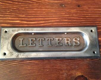 Antique Cast Iron Mail Slot