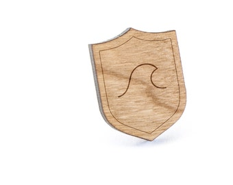 Wave Lapel Pin, Wooden Pin, Wooden Lapel, Gift For Him or Her, Wedding Gifts, Groomsman Gifts, and Personalized