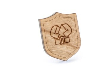 Karate Lapel Pin, Wooden Pin, Wooden Lapel, Gift For Him or Her, Wedding Gifts, Groomsman Gifts, and Personalized