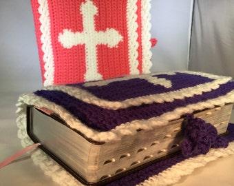 Crochet Bible Cover, Crochet Carrying Case, Crochet Bible Tote, Crochet Book Cover